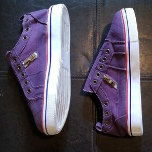 Purple Canvas Womens Sneakers (Size 7/5.5 Y&Mens)